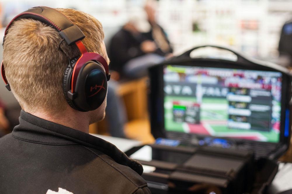 Man wearing a gaming headset